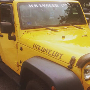 Jeep Wrangler Hood Decals