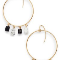 DVF Beaded Hoop Earrings | Nordstrom