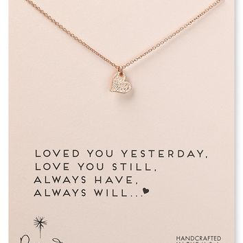 """Dogeared Loved You Yesterday Necklace, 18"""""""