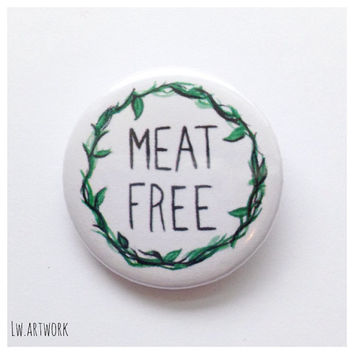 Meat Free Logo 25mm Badge Button