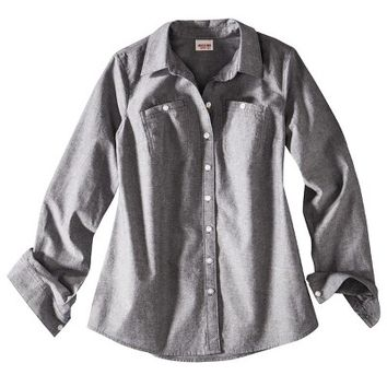 Mossimo Supply Co. Juniors Long Sleeve Chambray Shirt - Assorted Colors