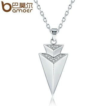 Fashion Lucky Triangle Copper Necklace for Women Geometric Pendant Necklaces Jewelry Bijoux YIN063