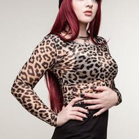 Wild Beast Long Sleeve Cropped Top from Evil Twin