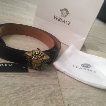 Versace Palazzo Belt With Medusa Buckle - 100% Genuine