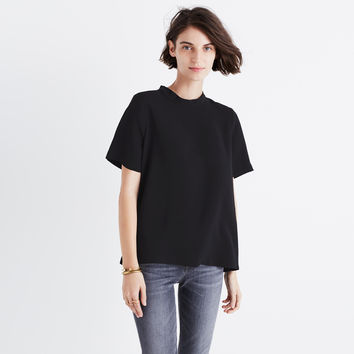 Mockneck Button-Back Top : | Madewell