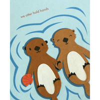 Otter Hold Hands Card - Philippines