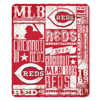 Cincinnati Reds MLB Light Weight Fleece Blanket (Strength Series) (50inx60in)