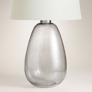 Smoke Glass Table Lamp Base - World Market