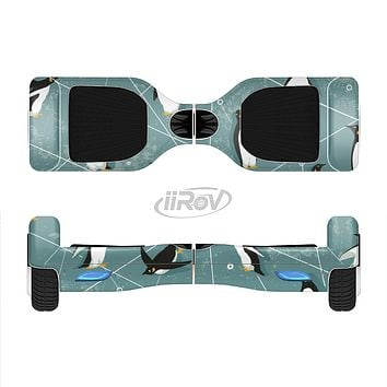 The Vintage Penguin Blue Collage Full-Body Skin Set for the Smart Drifting SuperCharged iiRov HoverBoard