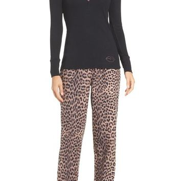 Betsey Johnson Flannel Pajamas | Nordstrom