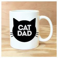 ROCK SCISSOR PAPER MUG CAT DAD
