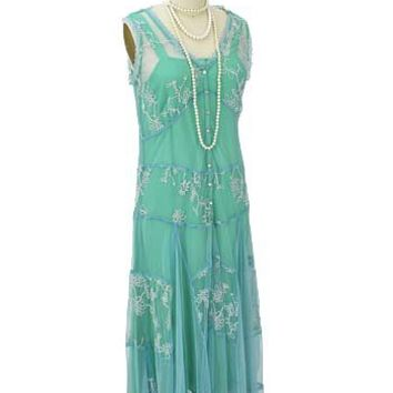 Romantic 1920s inspired garden party dress