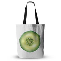 "Theresa Giolzetti ""Cucumber"" Green White Everything Tote Bag"