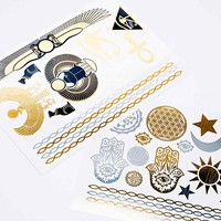Divine Ink Temporary Tattoos in Gold and Silver - Urban Outfitters
