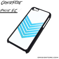 Chevron White Blue Case For Iphone 5C Case