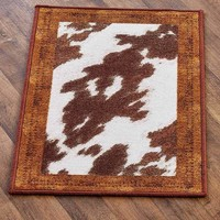 Cowhide Spot Look Rugs Nonskid Black Brown White Country Western Home Decor