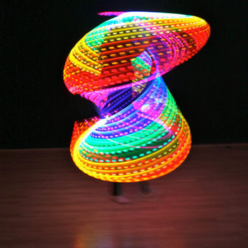 Rechargeable Double Rainbow LED Hula Hoop 2 by LEDCreations