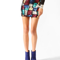 Sequined Mosaic Miniskirt