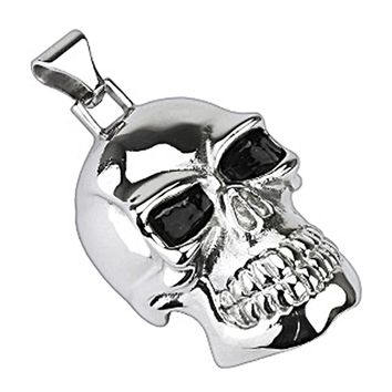 Spikes 316L Stainless Steel X-Large Death Skull Pendant
