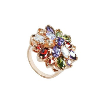 Colorful Luxury Flower Ring