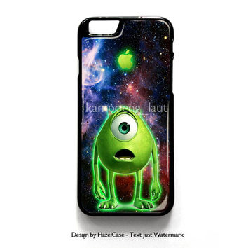 Monster Inc Mike Glowing Alien for iPhone 4 4S 5 5S 5C 6 6 Plus , iPod Touch 4 5  , Samsung Galaxy S3 S4 S5 Note 3 Note 4 , and HTC One X M7 M8 Case Cover