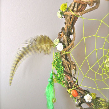 Dream catcher, dreamcatcher,wood dreamcatcher,wood,boho, bohemian,decor, handmade
