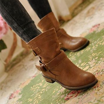 Women winter  Motorcycle boots