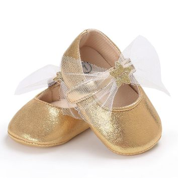 Kids Baby Shoes PU Leather Toddler Infant Princess Ballet Dress Party Mary Jane Children Bebe Star Shoes Newborn Sweet Prewalker