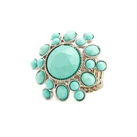 Gemstone Sunburst Stretch Ring: Charlotte Russe