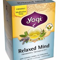 Yogi Relaxed Mind Tea, 16 Tea Bags (Pack of 6)