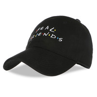 Real Friend Embroidery Baseball Caps Women Winter Hat for men Dad Hat Fishing Hockey Golf Snapback Cap Hip Hop Casquette