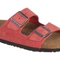 Arizona Soft Footbed Tea Rose Nubuck Sandals | Birkenstock USA Official Site