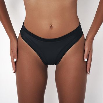 TOKITIND Sexy Bikinis Bottom Women Brazilian Swimwear White black Swimsuit Bikini Panties cheeky Thong bikini bottoms Swim Trunk