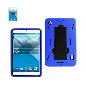 New Non Slip Case With Kickstand In Black Navy For Alcatel One Touch Pop 7 By Reiko