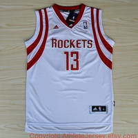 James Harden Houston Rockets 13 Revolution 30 Swingman White Home Jersey NBA Rare Sports Basketball All Stitched and Sewn Any Size S - XXL