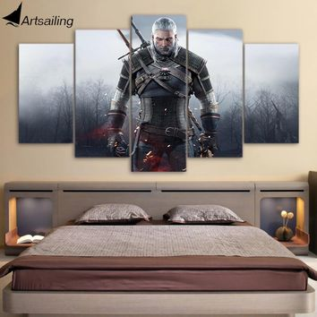 HD Printed witcher 3 wild hunt Painting on canvas room decoration print poster picture canvas framed Free shipping/up-690
