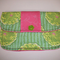 Soul Blossom Pink Damask Clutch Charmante Medium Your Choice of Print Combination