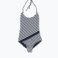 STRIPED SWIMSUIT