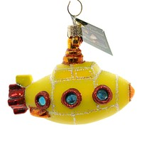 Old World Christmas Groovy Submarine Glass Ornament