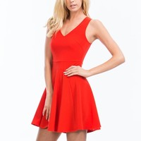 Pretty In Panels Skater Dress