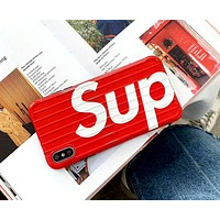 Supreme Tide brand personality anti-fall iPhone xs max phone case Red