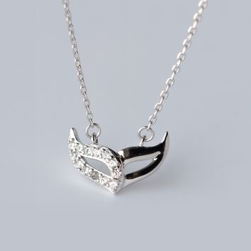 personality mysterious mask 925 Sterling Silver necklace, a perfect gift