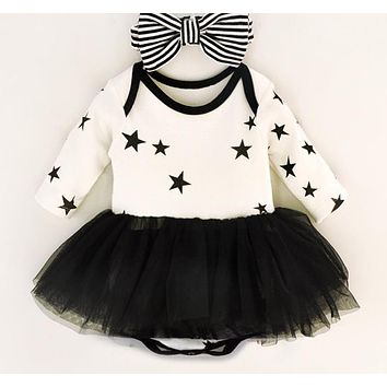 Baby Girl Dress Cake Dresses For Bow-tie Party Occasion Of Children Girl Birthday Party