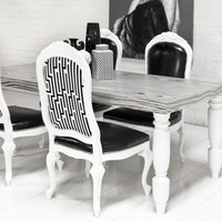 www.roomservicestore.com - Hollywood White Macassar Dining Table