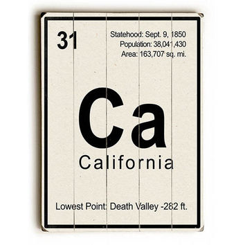 California Element by Gi Art Lab Wood Sign