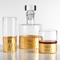 Hollywood Glam Complete Barware Glasses Decanter SET