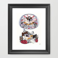 THE MONSTER PAINTED PART II Framed Art Print by VinceGabriel