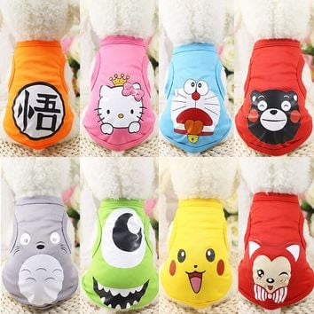 11 Color Summer Cute Totoro Dog Vest Cartoon Small Animals Dog Vest Teddy Dog Puppy Clothes Pet Shirt t shirt for small dogs
