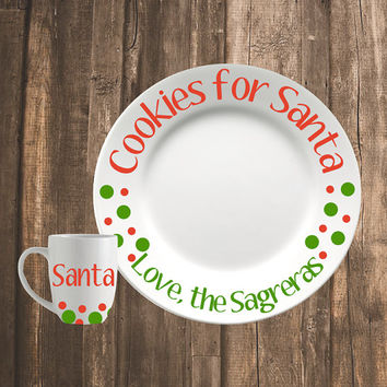 Christmas Cookie Plate | Cookies for Santa | Personalized Christmas Plate