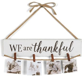 We Are Thankful Wall Hanging